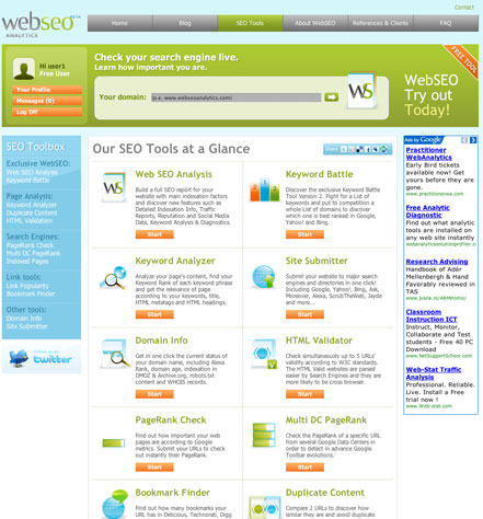 SEO Tools Page