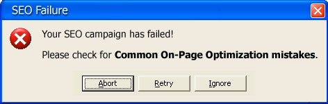 common-on-page-optimization-mistakes