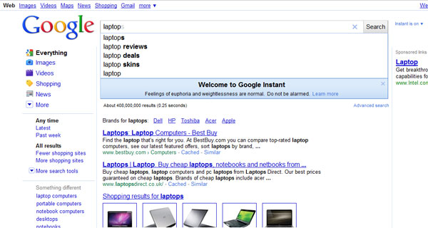 google-instant-screen