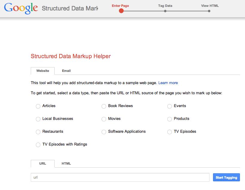google-structured-data-markup-helper